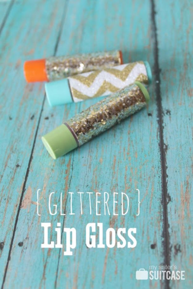 Cheap DIY Gifts and Inexpensive Homemade Christmas Gift Ideas for People on A Budget - Glittered Lip Gloss - To Make These Cool Presents Instead of Buying for the Holidays - Easy and Low Cost Gifts fTo Make For Friends and Neighbors - Quick Dollar Store Crafts and Projects for Xmas Gift Giving Parties - Step by Step Tutorials and Instructions #diygifts #teencrafts #diyideas #crafts #christmasgifts #cheapgifts