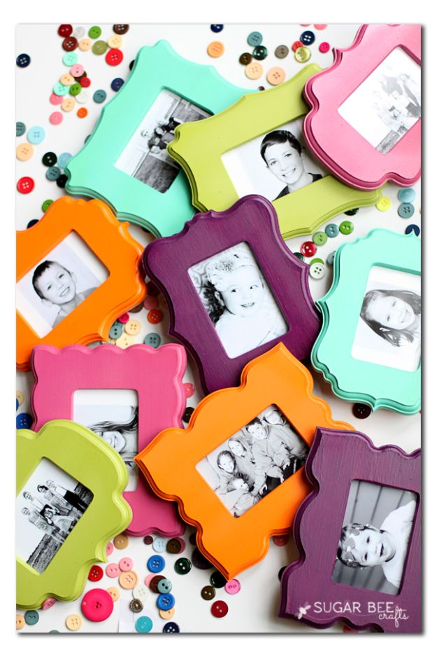 Cheap DIY Gifts and Inexpensive Homemade Christmas Gift Ideas for People on A Budget - Mini Frame Fridge Magnets - To Make These Cool Presents Instead of Buying for the Holidays - Easy and Low Cost Gifts fTo Make For Friends and Neighbors - Quick Dollar Store Crafts and Projects for Xmas Gift Giving Parties - Step by Step Tutorials and Instructions http://diyjoy.com/cheap-gifts-to-make-for-friends