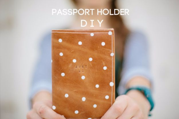 Cheap DIY Gifts and Inexpensive Homemade Christmas Gift Ideas for People on A Budget - Passport Holder DIY - To Make These Cool Presents Instead of Buying for the Holidays - Easy and Low Cost Gifts fTo Make For Friends and Neighbors - Quick Dollar Store Crafts and Projects for Xmas Gift Giving Parties - Step by Step Tutorials and Instructions #diygifts #teencrafts #diyideas #crafts #christmasgifts #cheapgifts