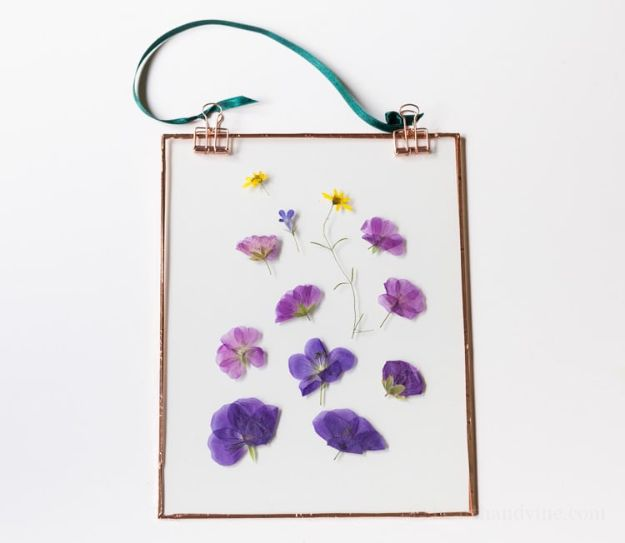 Cheap DIY Gifts and Inexpensive Homemade Christmas Gift Ideas for People on A Budget - Pressed Flower Suncatcher - To Make These Cool Presents Instead of Buying for the Holidays - Easy and Low Cost Gifts fTo Make For Friends and Neighbors - Quick Dollar Store Crafts and Projects for Xmas Gift Giving Parties - Step by Step Tutorials and Instructions http://diyjoy.com/cheap-gifts-to-make-for-friends