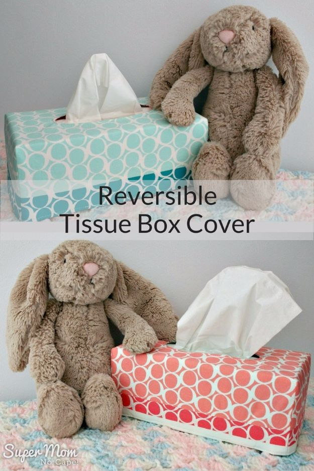 Cheap DIY Gifts and Inexpensive Homemade Christmas Gift Ideas for People on A Budget - Reversible Tissue Box Covers - To Make These Cool Presents Instead of Buying for the Holidays - Easy and Low Cost Gifts fTo Make For Friends and Neighbors - Quick Dollar Store Crafts and Projects for Xmas Gift Giving Parties - Step by Step Tutorials and Instructions #diygifts #teencrafts #diyideas #crafts #christmasgifts #cheapgifts