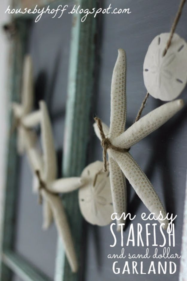 Crafts for Teens to Make and Sell - Seashell Garland - Cheap and Easy DIY Ideas To Make For Extra Money - Best Things to Sell On Etsy, Dollar Store Craft Ideas, Quick Projects for Teenagers To Make Spending Cash - DIY Gifts, Wall Art, School Supplies, Room Decor, Jewelry, Fashion, Hair Accessories, Bracelets, Magnets http://diyprojectsforteens.com/crafts-to-sell-teens