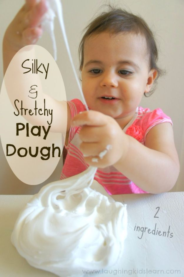 Borax Free Slime Recipes - Silky And Stretchy Playdough - Safe Slimes To Make Without Glue - How To Make Fluffy Slime With Shaving Cream - Easy 3 Ingredients Glitter Slime, Clear, Galaxy, Best DIY Slime Tutorials With Step by Step Instructions http://diyprojectsforteens.com/borax-free-slime