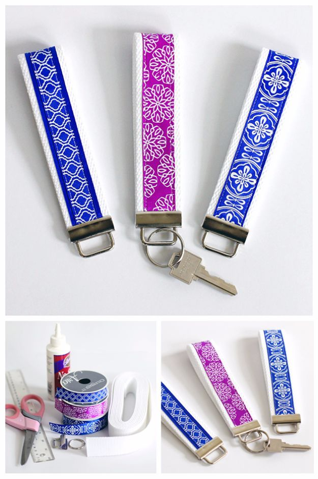 Cheap DIY Gifts and Inexpensive Homemade Christmas Gift Ideas for People on A Budget - Simple DIY Key Fob Wristlet - To Make These Cool Presents Instead of Buying for the Holidays - Easy and Low Cost Gifts fTo Make For Friends and Neighbors - Quick Dollar Store Crafts and Projects for Xmas Gift Giving Parties - Step by Step Tutorials and Instructions http://diyjoy.com/cheap-gifts-to-make-for-friends