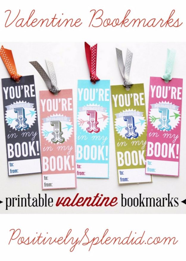 Cheap DIY Valentine's Day Gift Ideas - Valentine Bookmarks - Make These Easy and Inexpensive Crafts and Valentine Projects - Cute Dollar Store Ideas, Tutorials for Making Jars, Gift Boxes, Pink Red and Heart Shaped Decor - Creative Ways To Say I Love You to Your BFF, Boyfriend, Girlfriend, Husband, Wife and Kids http://diyprojectsforteens.com/cheap-diy-valentines-gifts