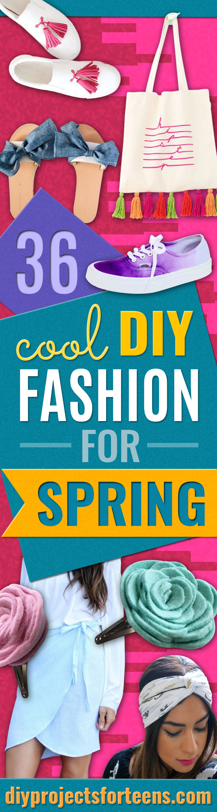 DIY Teen Fashion for Spring - Easy Homemade Clothing Tutorials and Things To Make To Wear - Cute Patterns and Projects for Teens to Make, T-Shirts, Skirts, Dresses, Shorts and Ideas for Jeans - Tops, Tanks and Tees With Free Tutorial Ideas and Instructions http://diyprojectsforteens.com/teen-fashion-spring