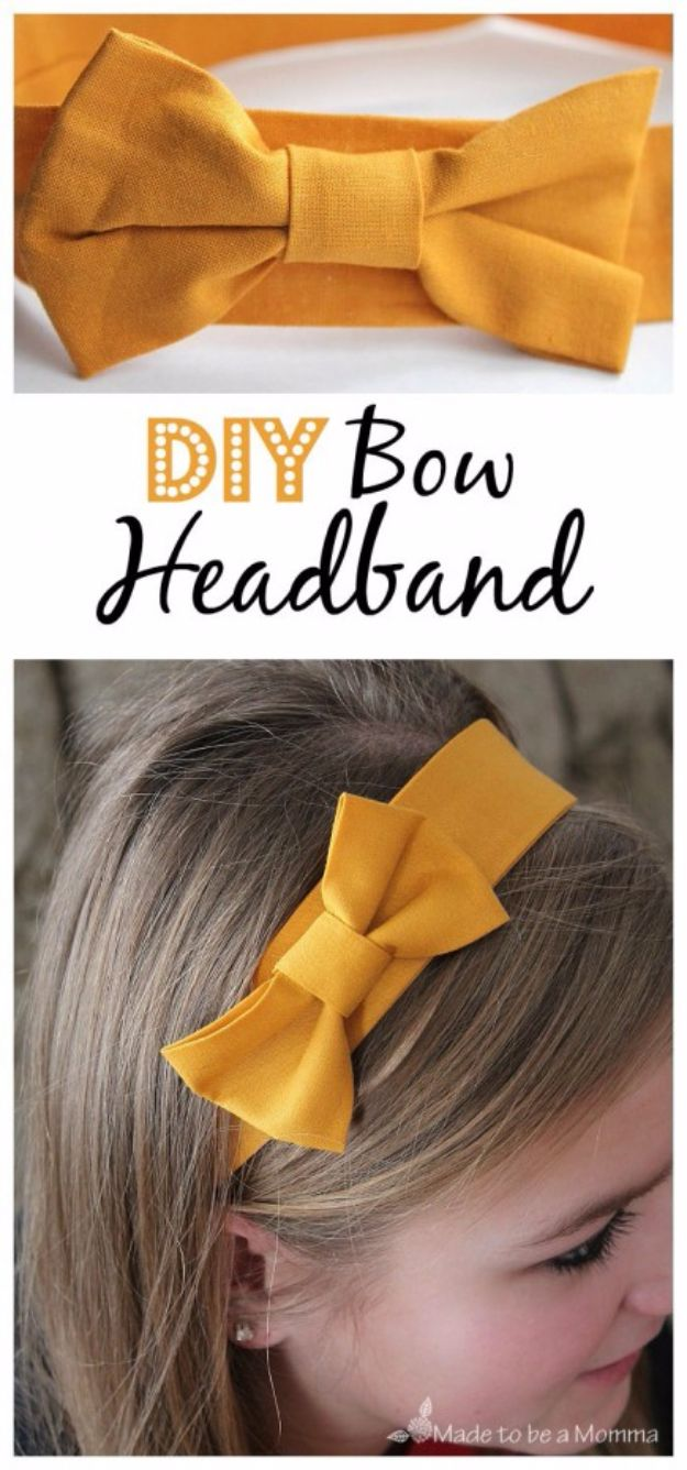 DIY Teen Fashion for Spring - DIY Bow Headband - Easy Homemade Clothing Tutorials and Things To Make To Wear - Cute Patterns and Projects for Teens to Make, T-Shirts, Skirts, Dresses, Shorts and Ideas for Jeans - Tops, Tanks and Tees With Free Tutorial Ideas and Instructions http://diyprojectsforteens.com/teen-fashion-spring