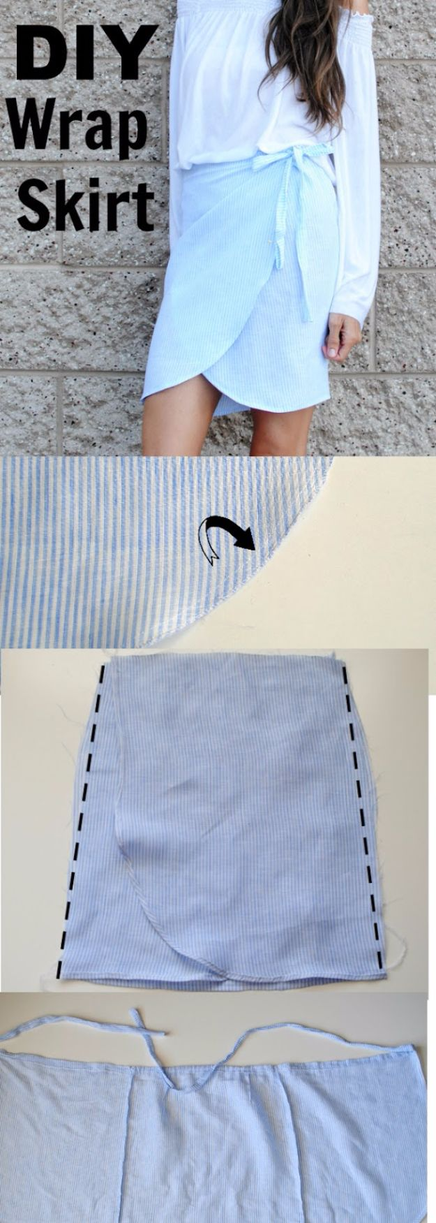DIY Teen Fashion for Spring - DIY Linen Tulip Wrap Skirt - Easy Homemade Clothing Tutorials and Things To Make To Wear - Cute Patterns and Projects for Teens to Make, T-Shirts, Skirts, Dresses, Shorts and Ideas for Jeans - Tops, Tanks and Tees With Free Tutorial Ideas and Instructions http://diyprojectsforteens.com/teen-fashion-spring