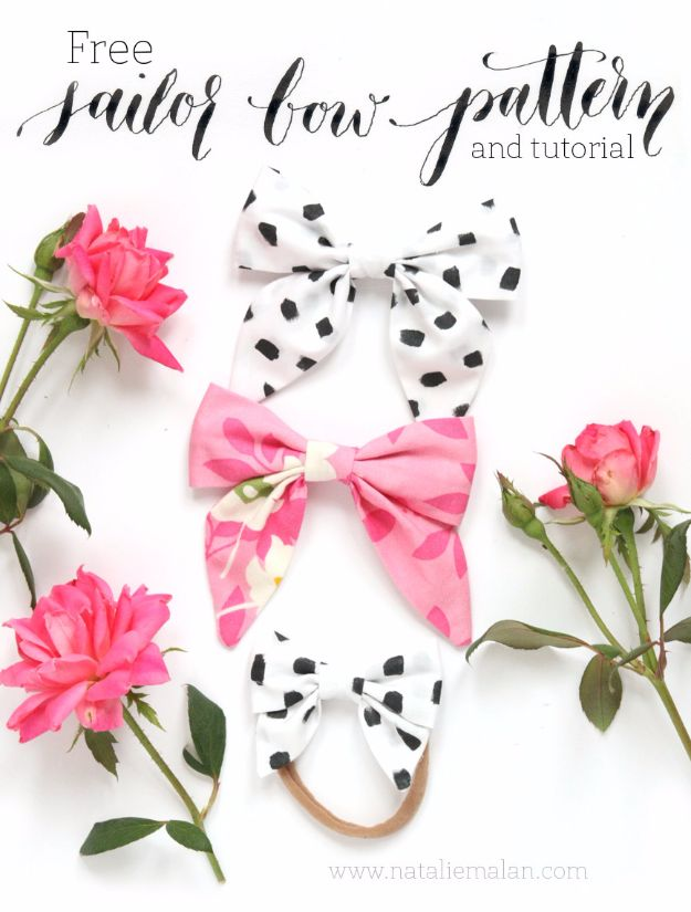 DIY Teen Fashion for Spring - DIY Sailor Bow - Easy Homemade Clothing Tutorials and Things To Make To Wear - Cute Patterns and Projects for Teens to Make, T-Shirts, Skirts, Dresses, Shorts and Ideas for Jeans - Tops, Tanks and Tees With Free Tutorial Ideas and Instructions http://diyprojectsforteens.com/teen-fashion-spring