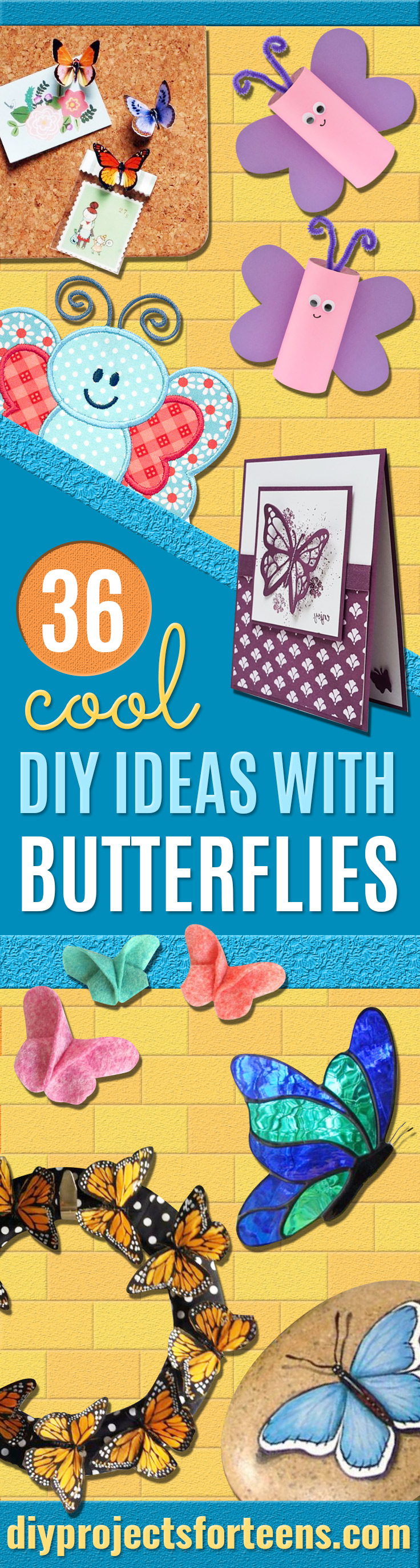 DIY Ideas With Butterflies - Cute and Easy DIY Projects for Butterfly Lovers - Wall and Home Decor Projects, Things To Make and Sell on Etsy - Quick Gifts to Make for Friends and Family - Homemade No Sew Projects- Fun Jewelry, Cool Clothes and Accessories http://diyprojectsforteens.com/diy-ideas-butterflies