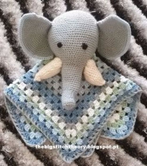 DIY Ideas With Elephants - Baby Snuggle Crochet - Easy Wall Art Ideas, Crafts, Jewelry, Arts and Craft Projects for Kids, Teens and Adults- Simple Canvases, Throw Pillows, Cute Paintings for Nurseries, Dollar Store Crafts and Fun Dorm Room and Bedroom Decor - Tutorials for Crafty Ideas Decorated With an Elephant