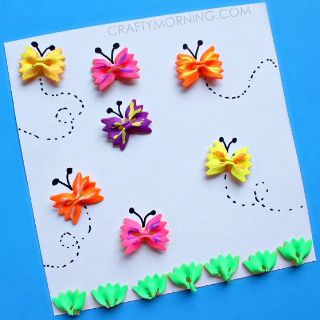 DIY Ideas With Butterflies - Bow-Tie Noodle Butterfly Craft - Cute and Easy DIY Projects for Butterfly Lovers - Wall and Home Decor Projects, Things To Make and Sell on Etsy - Quick Gifts to Make for Friends and Family - Homemade No Sew Projects- Fun Jewelry, Cool Clothes and Accessories http://diyprojectsforteens.com/diy-ideas-butterflies