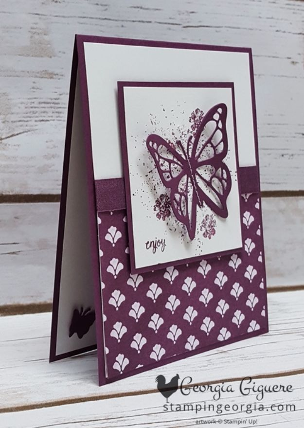 DIY Ideas With Butterflies - Butterfly Card - Cute and Easy DIY Projects for Butterfly Lovers - Wall and Home Decor Projects, Things To Make and Sell on Etsy - Quick Gifts to Make for Friends and Family - Homemade No Sew Projects- Fun Jewelry, Cool Clothes and Accessories http://diyprojectsforteens.com/diy-ideas-butterflies