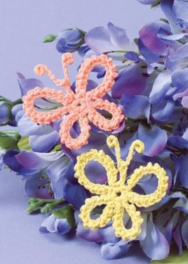 DIY Ideas With Butterflies - Crochet Butterfly Pattern - Cute and Easy DIY Projects for Butterfly Lovers - Wall and Home Decor Projects, Things To Make and Sell on Etsy - Quick Gifts to Make for Friends and Family - Homemade No Sew Projects- Fun Jewelry, Cool Clothes and Accessories http://diyprojectsforteens.com/diy-ideas-butterflies