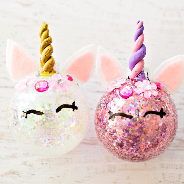DIY Ideas With Unicorns - DIY Glitter Unicorn Ornaments - Cute and Easy DIY Projects for Unicorn Lovers - Wall and Home Decor Projects, Things To Make and Sell on Etsy - Quick Gifts to Make for Friends and Family - Homemade No Sew Projects and Pillows - Fun Jewelry, Desk Decor Cool Clothes and Accessories http://diyprojectsforteens.com/diy-ideas-unicorns