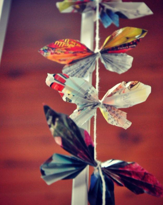 DIY Ideas With Butterflies - DIY Paper Butterflies - Cute and Easy DIY Projects for Butterfly Lovers - Wall and Home Decor Projects, Things To Make and Sell on Etsy - Quick Gifts to Make for Friends and Family - Homemade No Sew Projects- Fun Jewelry, Cool Clothes and Accessories http://diyprojectsforteens.com/diy-ideas-butterflies