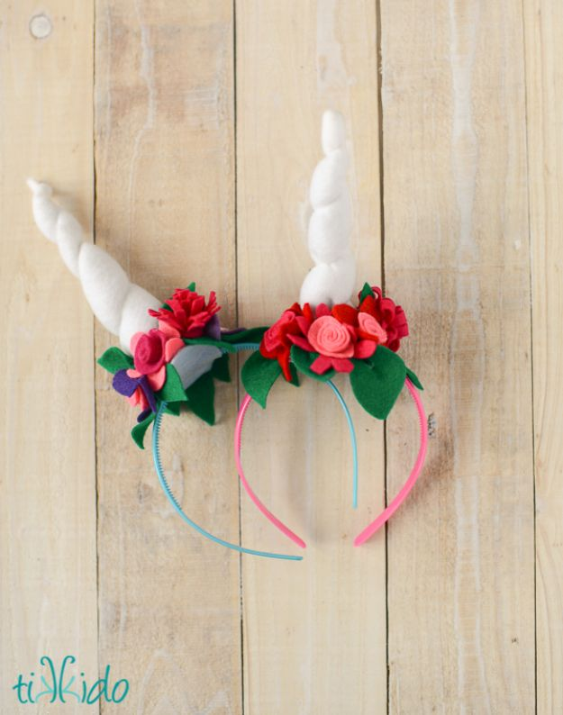 DIY Ideas With Unicorns - Easy Felt Unicorn Horn Headband - Cute and Easy DIY Projects for Unicorn Lovers - Wall and Home Decor Projects, Things To Make and Sell on Etsy - Quick Gifts to Make for Friends and Family - Homemade No Sew Projects and Pillows - Fun Jewelry, Desk Decor Cool Clothes and Accessories