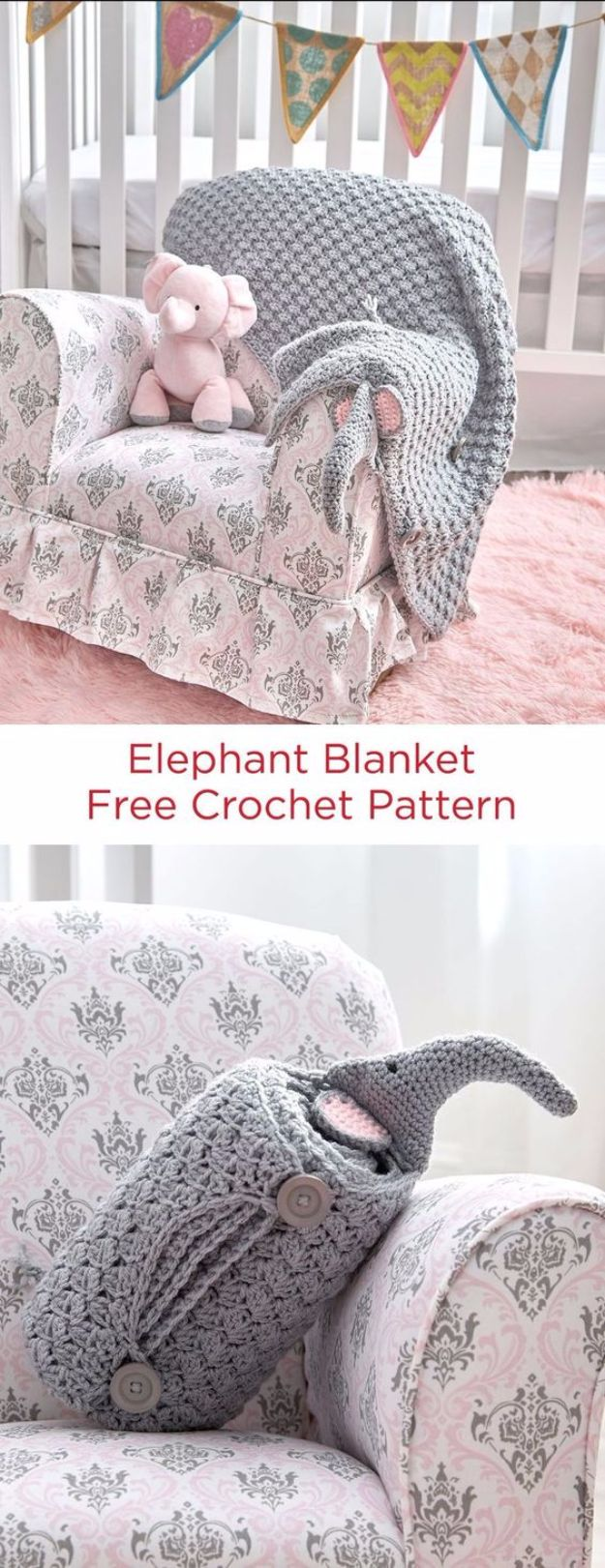 DIY Ideas With Elephants - Elephant Blanket - Easy Wall Art Ideas, Crafts, Jewelry, Arts and Craft Projects for Kids, Teens and Adults- Simple Canvases, Throw Pillows, Cute Paintings for Nurseries, Dollar Store Crafts and Fun Dorm Room and Bedroom Decor - Tutorials for Crafty Ideas Decorated With an Elephant