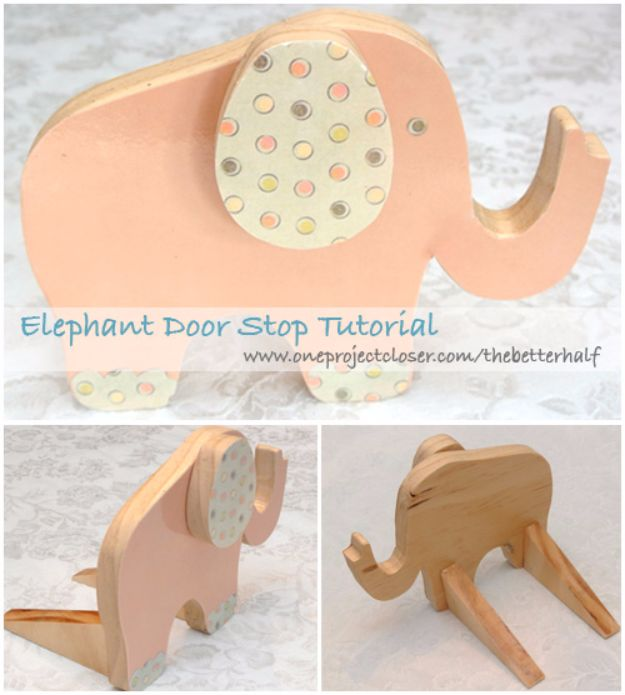 DIY Ideas With Elephants - Elephant Doorstop - Easy Wall Art Ideas, Crafts, Jewelry, Arts and Craft Projects for Kids, Teens and Adults- Simple Canvases, Throw Pillows, Cute Paintings for Nurseries, Dollar Store Crafts and Fun Dorm Room and Bedroom Decor - Tutorials for Crafty Ideas Decorated With an Elephant