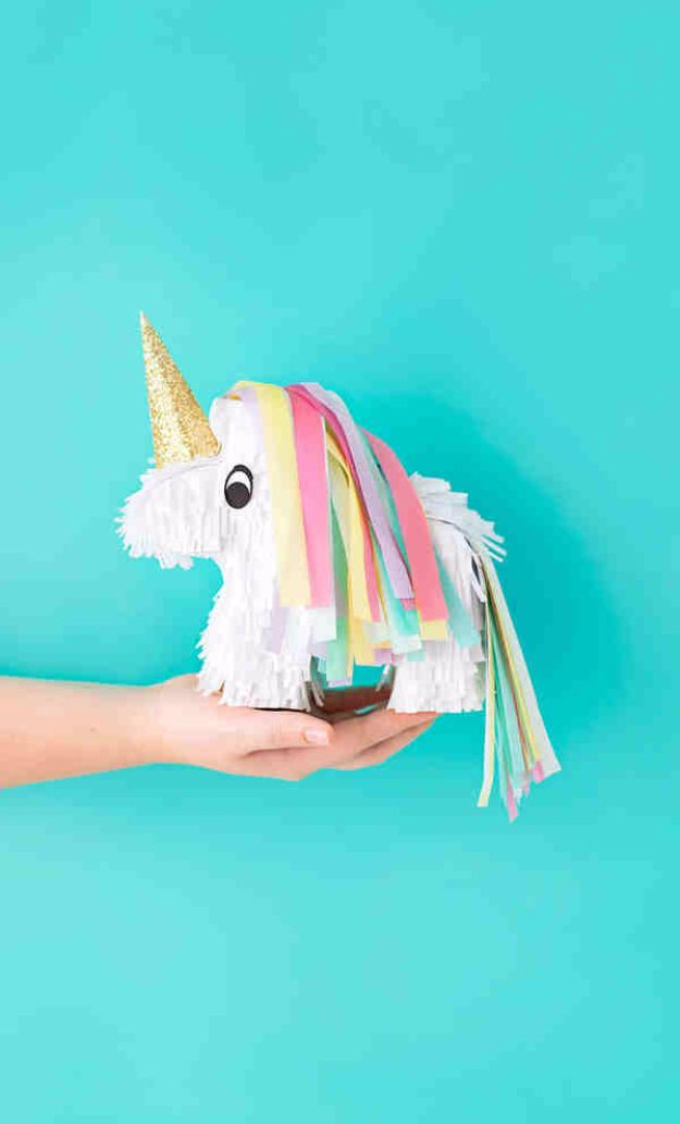 DIY Ideas With Unicorns - Miniature Unicorn Piñatas - Cute and Easy DIY Projects for Unicorn Lovers - Wall and Home Decor Projects, Things To Make and Sell on Etsy - Quick Gifts to Make for Friends and Family - Homemade No Sew Projects and Pillows - Fun Jewelry, Desk Decor Cool Clothes and Accessories http://diyprojectsforteens.com/diy-ideas-unicorns