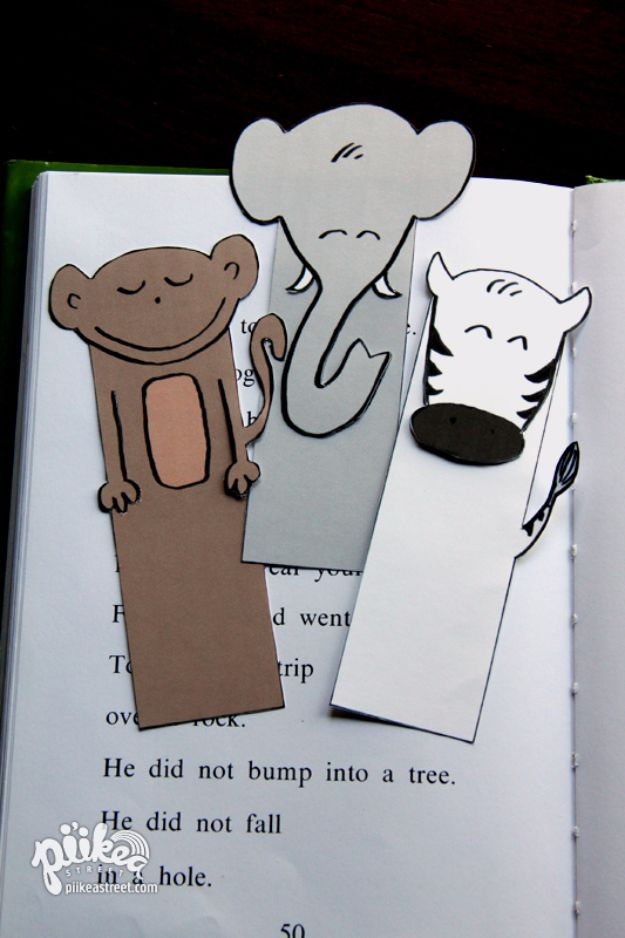 DIY Ideas With Elephants - Printable Elephant Bookmark - Easy Wall Art Ideas, Crafts, Jewelry, Arts and Craft Projects for Kids, Teens and Adults- Simple Canvases, Throw Pillows, Cute Paintings for Nurseries, Dollar Store Crafts and Fun Dorm Room and Bedroom Decor - Tutorials for Crafty Ideas Decorated With an Elephant