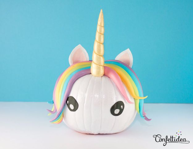 DIY Ideas With Unicorns - Pumpkin Unicorn - Cute and Easy DIY Projects for Unicorn Lovers - Wall and Home Decor Projects, Things To Make and Sell on Etsy - Quick Gifts to Make for Friends and Family - Homemade No Sew Projects and Pillows - Fun Jewelry, Desk Decor Cool Clothes and Accessories http://diyprojectsforteens.com/diy-ideas-unicorns