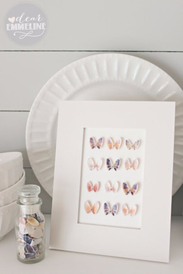 DIY Ideas With Butterflies - Seashell Specimen Art - Cute and Easy DIY Projects for Butterfly Lovers - Wall and Home Decor Projects, Things To Make and Sell on Etsy - Quick Gifts to Make for Friends and Family - Homemade No Sew Projects- Fun Jewelry, Cool Clothes and Accessories http://diyprojectsforteens.com/diy-ideas-butterflies