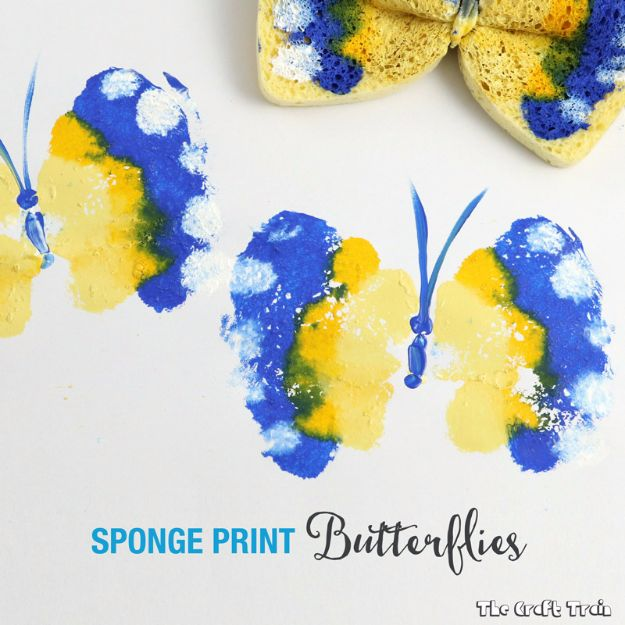 DIY Ideas With Butterflies - Sponge Print Butterflies - Cute and Easy DIY Projects for Butterfly Lovers - Wall and Home Decor Projects, Things To Make and Sell on Etsy - Quick Gifts to Make for Friends and Family - Homemade No Sew Projects- Fun Jewelry, Cool Clothes and Accessories http://diyprojectsforteens.com/diy-ideas-butterflies