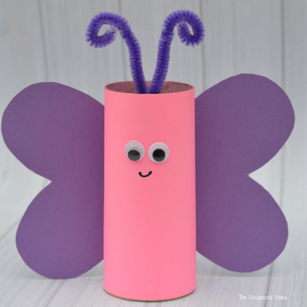 DIY Ideas With Butterflies - Toilet Paper Roll Butterfly Craft - Cute and Easy DIY Projects for Butterfly Lovers - Wall and Home Decor Projects, Things To Make and Sell on Etsy - Quick Gifts to Make for Friends and Family - Homemade No Sew Projects- Fun Jewelry, Cool Clothes and Accessories http://diyprojectsforteens.com/diy-ideas-butterflies
