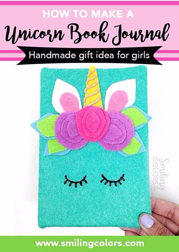DIY Ideas With Unicorns - Unicorn Book Journal - Cute and Easy DIY Projects for Unicorn Lovers - Wall and Home Decor Projects, Things To Make and Sell on Etsy - Quick Gifts to Make for Friends and Family - Homemade No Sew Projects and Pillows - Fun Jewelry, Desk Decor Cool Clothes and Accessories