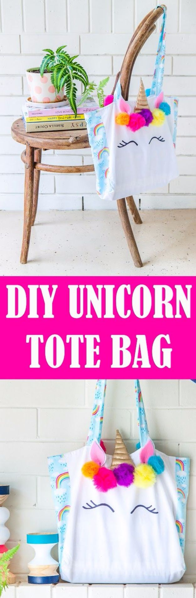 DIY Ideas With Unicorns - Unicorn Tote Bag - Cute and Easy DIY Projects for Unicorn Lovers - Wall and Home Decor Projects, Things To Make and Sell on Etsy - Quick Gifts to Make for Friends and Family - Homemade No Sew Projects and Pillows - Fun Jewelry, Desk Decor Cool Clothes and Accessories