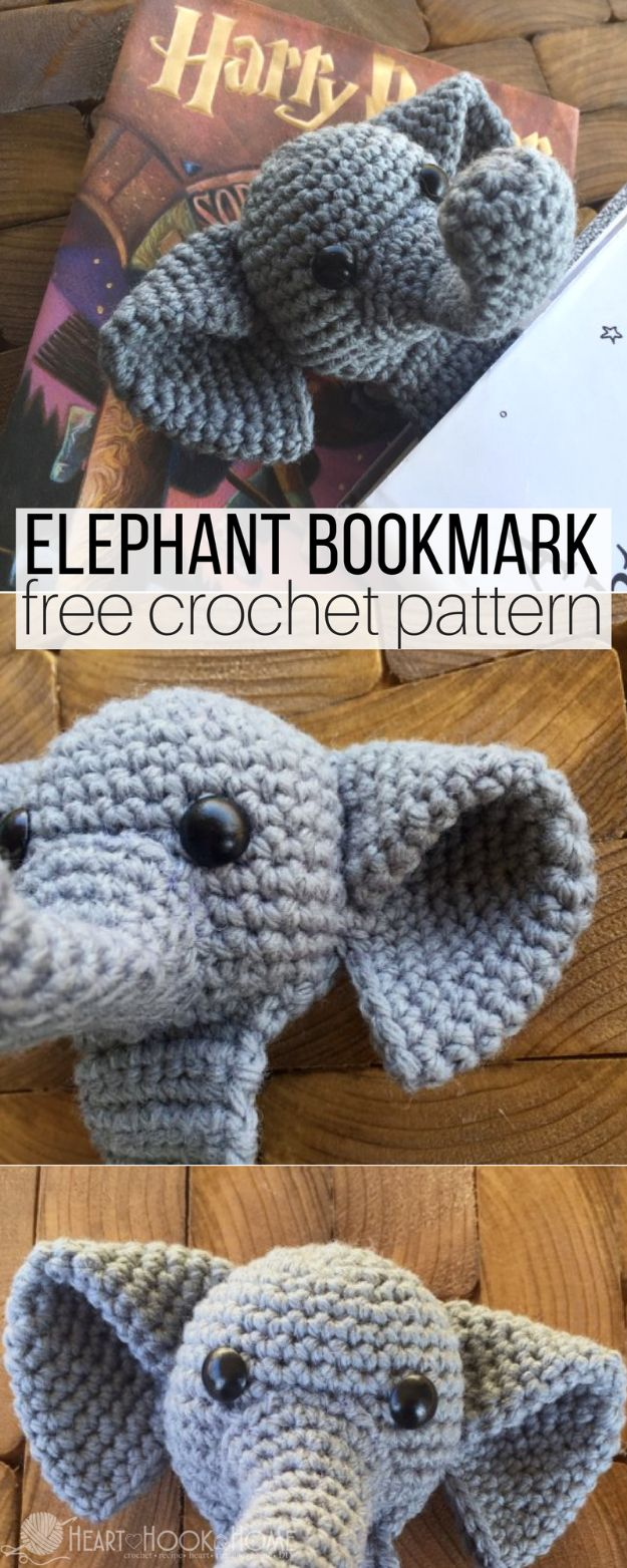 DIY Ideas With Elephants - Webster the Elephant Bookmark - Easy Wall Art Ideas, Crafts, Jewelry, Arts and Craft Projects for Kids, Teens and Adults- Simple Canvases, Throw Pillows, Cute Paintings for Nurseries, Dollar Store Crafts and Fun Dorm Room and Bedroom Decor - Tutorials for Crafty Ideas Decorated With an Elephant