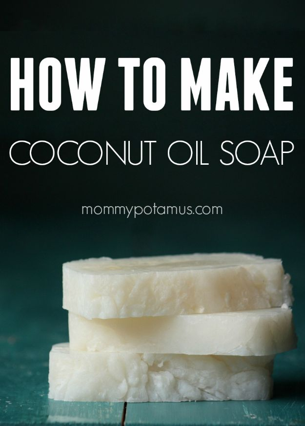 Cool Soaps To Make At Home - Coconut Oil Soap - DIY Soap Recipes and Ideas - Best Soap Tutorials for Soap Making Without Lye - Easy Cold Process Melt and Pour Tips for Beginners - Crockpot, Essential Oils, Homemade Natural Soaps and Products - Creative Crafts and DIY for Teens, Kids and Adults http://diyprojectsforteens.com/cool-soaps-to-make