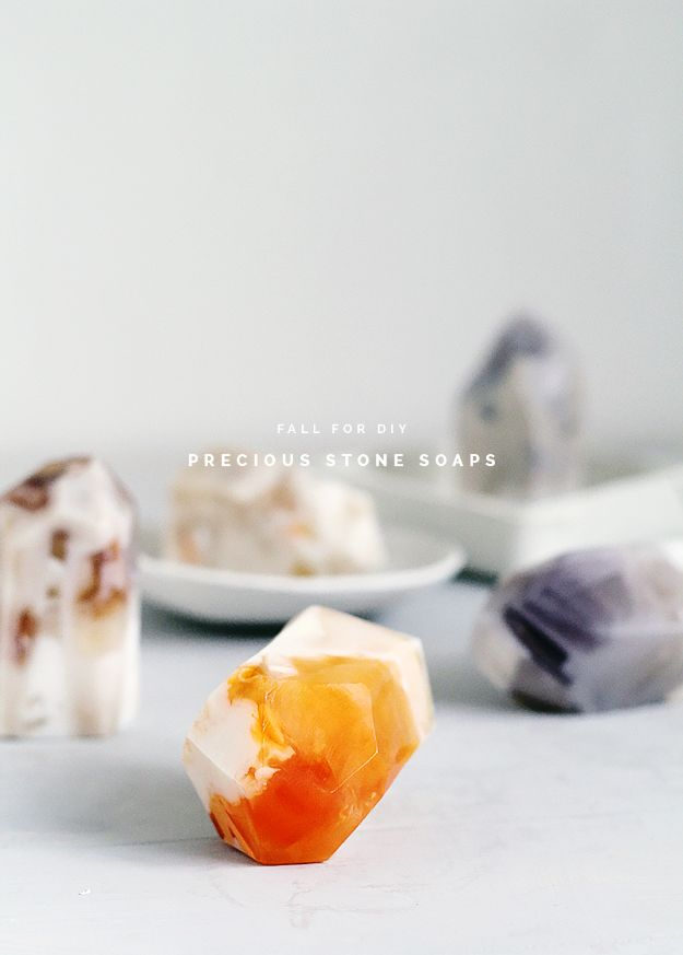 Cool Soaps To Make At Home - DIY Precious Stone Soaps - DIY Soap Recipes and Ideas - Best Soap Tutorials for Soap Making Without Lye - Easy Cold Process Melt and Pour Tips for Beginners - Crockpot, Essential Oils, Homemade Natural Soaps and Products - Creative Crafts and DIY for Teens, Kids and Adults #soapmaking #diygifts #soap #soaprecipes