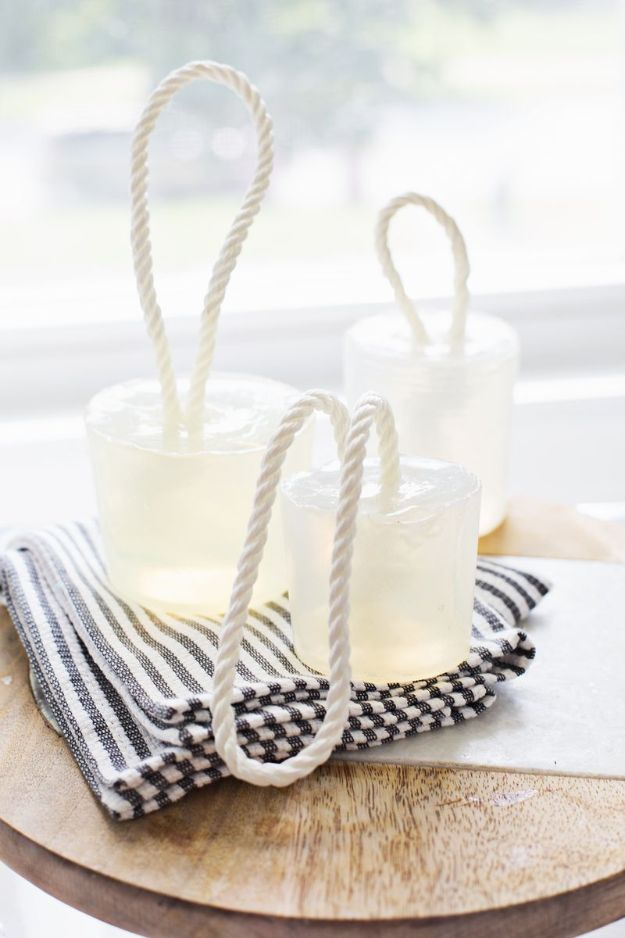 Cool Soaps To Make At Home - DIY Soap On A Rope - DIY Soap Recipes and Ideas - Best Soap Tutorials for Soap Making Without Lye - Easy Cold Process Melt and Pour Tips for Beginners - Crockpot, Essential Oils, Homemade Natural Soaps and Products - Creative Crafts and DIY for Teens, Kids and Adults #soapmaking #diygifts #soap #soaprecipes