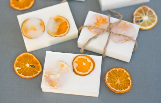 Cool Soaps To Make At Home - Easy Handmade Goat's Milk Citrus Soaps - DIY Soap Recipes and Ideas - Best Soap Tutorials for Soap Making Without Lye - Easy Cold Process Melt and Pour Tips for Beginners - Crockpot, Essential Oils, Homemade Natural Soaps and Products - Creative Crafts and DIY for Teens, Kids and Adults http://diyprojectsforteens.com/cool-soaps-to-make