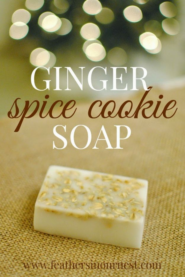Cool Soaps To Make At Home - Ginger Spice Cookie Soap - DIY Soap Recipes and Ideas - Best Soap Tutorials for Soap Making Without Lye - Easy Cold Process Melt and Pour Tips for Beginners - Crockpot, Essential Oils, Homemade Natural Soaps and Products - Creative Crafts and DIY for Teens, Kids and Adults #soapmaking #diygifts #soap #soaprecipes