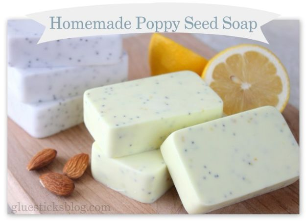 Cool Soaps To Make At Home - Homemade Poppy Seed Soap Recipe - DIY Soap Recipes and Ideas - Best Soap Tutorials for Soap Making Without Lye - Easy Cold Process Melt and Pour Tips for Beginners - Crockpot, Essential Oils, Homemade Natural Soaps and Products - Creative Crafts and DIY for Teens, Kids and Adults #soapmaking #diygifts #soap #soaprecipes