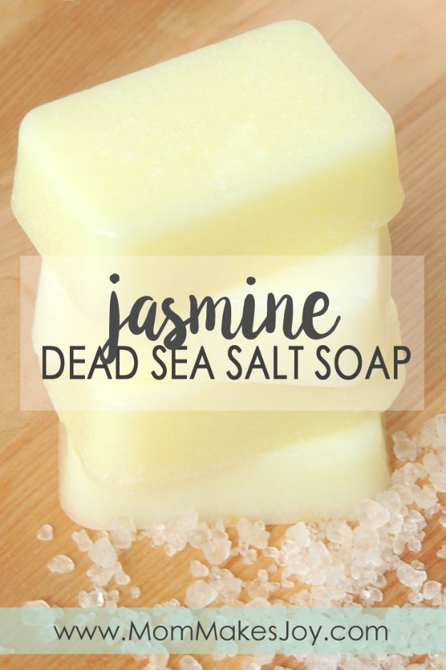 Cool Soaps To Make At Home - Jasmine Dead Sea Salt Soap - DIY Soap Recipes and Ideas - Best Soap Tutorials for Soap Making Without Lye - Easy Cold Process Melt and Pour Tips for Beginners - Crockpot, Essential Oils, Homemade Natural Soaps and Products - Creative Crafts and DIY for Teens, Kids and Adults #soapmaking #diygifts #soap #soaprecipes