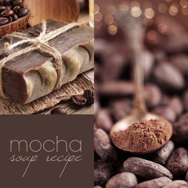 Cool Soaps To Make At Home - Mocha Soap - DIY Soap Recipes and Ideas - Best Soap Tutorials for Soap Making Without Lye - Easy Cold Process Melt and Pour Tips for Beginners - Crockpot, Essential Oils, Homemade Natural Soaps and Products - Creative Crafts and DIY for Teens, Kids and Adults http://diyprojectsforteens.com/cool-soaps-to-make