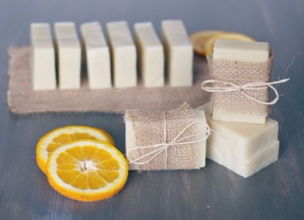 Cool Soaps To Make At Home - Soap With A Fresh Orange Scent - DIY Soap Recipes and Ideas - Best Soap Tutorials for Soap Making Without Lye - Easy Cold Process Melt and Pour Tips for Beginners - Crockpot, Essential Oils, Homemade Natural Soaps and Products - Creative Crafts and DIY for Teens, Kids and Adults #soapmaking #diygifts #soap #soaprecipes