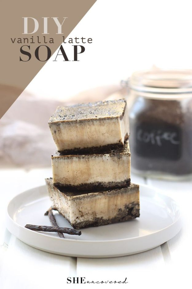 Cool Soaps To Make At Home - Vanilla Latte Soap - DIY Soap Recipes and Ideas - Best Soap Tutorials for Soap Making Without Lye - Easy Cold Process Melt and Pour Tips for Beginners - Crockpot, Essential Oils, Homemade Natural Soaps and Products - Creative Crafts and DIY for Teens, Kids and Adults #soapmaking #diygifts #soap #soaprecipes