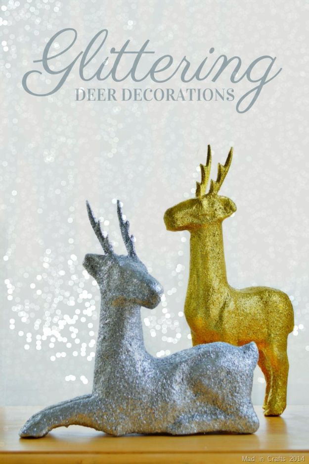 Creative Paper Mache Crafts - Glittered Paper Mache Deer Tutorial - Easy DIY Ideas for Making Paper Mache Projects - Cool Newspaper and Paper Bag Craft Tips - Recipe for for How To Make Homemade Paper Mashe paste - Halloween Masks and Costume Tutorials - Sculpture, Animals and Ideas for Kids #diyideas #papermache #teencrafts #crafts