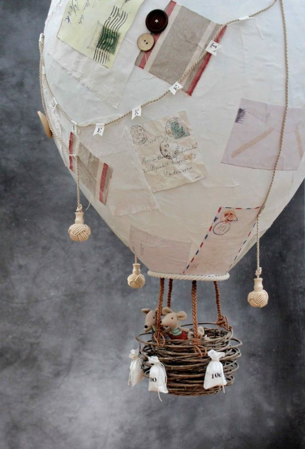 Creative Paper Mache Crafts - Make A Giant Papier Mache Hot Air Balloon - Easy DIY Ideas for Making Paper Mache Projects - Cool Newspaper and Paper Bag Craft Tips - Recipe for for How To Make Homemade Paper Mashe paste - Halloween Masks and Costume Tutorials - Sculpture, Animals and Ideas for Kids #diyideas #papermache #teencrafts #crafts