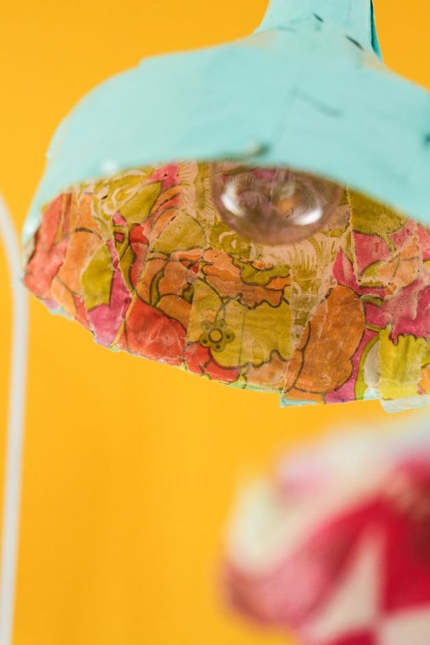 Creative Paper Mache Crafts - Paper Mache Pendant Lights - Easy DIY Ideas for Making Paper Mache Projects - Cool Newspaper and Paper Bag Craft Tips - Recipe for for How To Make Homemade Paper Mashe paste - Halloween Masks and Costume Tutorials - Sculpture, Animals and Ideas for Kids http://diyprojectsforteens.com/paper-mache-crafts