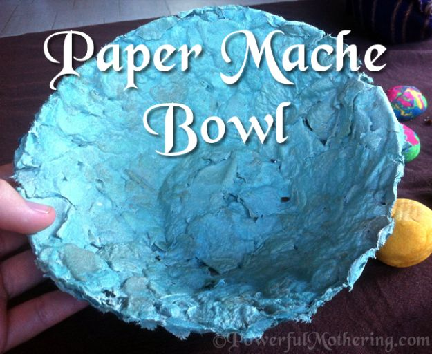 Creative Paper Mache Crafts - Paper Mache Bowl Craft - Easy DIY Ideas for Making Paper Mache Projects - Cool Newspaper and Paper Bag Craft Tips - Recipe for for How To Make Homemade Paper Mashe paste - Halloween Masks and Costume Tutorials - Sculpture, Animals and Ideas for Kids #diyideas #papermache #teencrafts #crafts