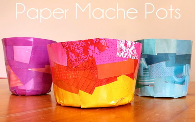 Creative Paper Mache Crafts - Paper Mache Pots - Easy DIY Ideas for Making Paper Mache Projects - Cool Newspaper and Paper Bag Craft Tips - Recipe for for How To Make Homemade Paper Mashe paste - Halloween Masks and Costume Tutorials - Sculpture, Animals and Ideas for Kids #diyideas #papermache #teencrafts #crafts