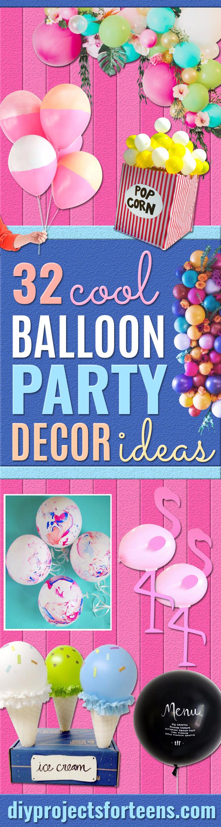 Balloon Crafts - Fun Balloon Craft Ideas, Wall Art Projects and Cute Ballon Decor - DIY Balloon Ideas for Toddlers, Preschool Kids, Teens and Adults - Cheap Crafts Made With Balloons - Pumpkins, Bowls, Marshmallow Shooters, Balls, Glow Stick, Hot Air, Stress Ball http://diyjoy.com/balloon-crafts