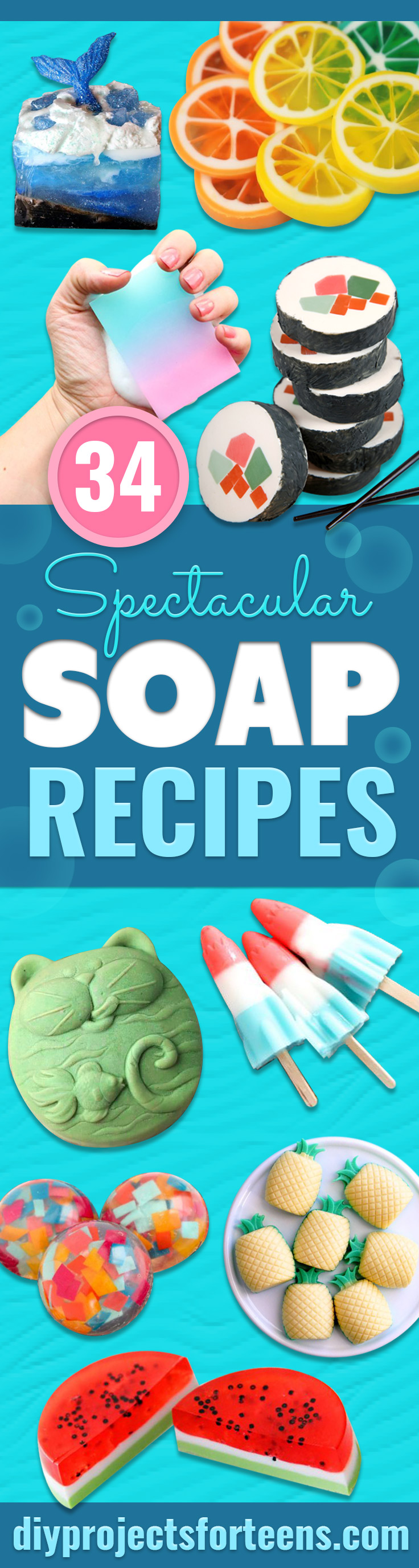 Soap Recipes DIY - DIY Soap Recipe Ideas - Best Soap Tutorials for Soap Making Without Lye - Easy Cold Process Melt and Pour Tips for Beginners - Crockpot, Essential Oils, Homemade Natural Soaps and Products - Creative Crafts and DIY for Teens, Kids and Adults #soaprecipes #diygifts #soapmaking