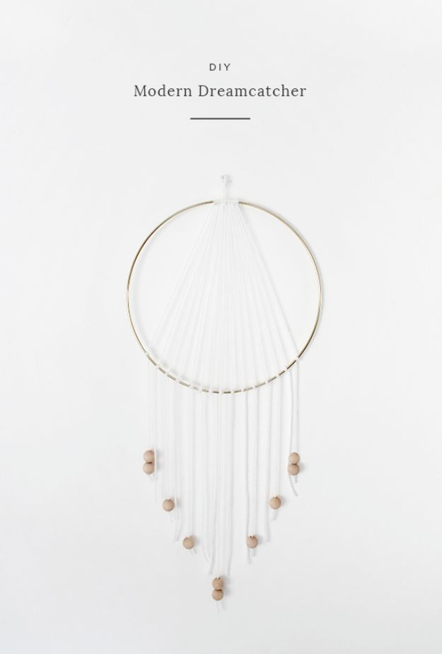DIY Dream Catchers - DIY Modern Dreamcatcher - How to Make a Dreamcatcher Step by Step Tutorial - Easy Ideas for Dream Catcher for Kids Room - Make a Mobile, Moon Designs, Pattern Ideas, Boho Dreamcatcher With Sticks, Cool Wall Hangings for Teen Rooms - Cheap Home Decor Ideas on A Budget #diyideas #teencrafts #dreamcatchers